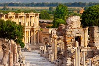 Street of Curetes, Celsus Library, Ephesus, Turkey Fine Art Print