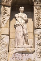 Statue in Historical Wall at Ruins of Ephesus, Turkey by Bill Bachmann - various sizes