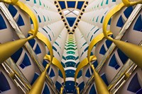 Architectural details inside Burj Al Arab Hotel, Dubai, United Arab Emirates by Keren Su - various sizes