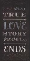 A True Love Story Never Ends Framed Print