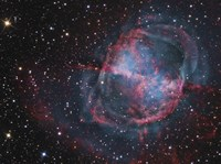 Close up of The Dumbbell Nebula Fine Art Print