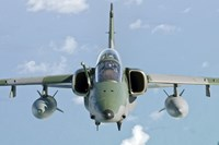 Brazilian Air Force Embraer A-1B soars through the sky over Brazil Fine Art Print