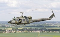 Italian Air Force AB-212 ICO helicopter over France Fine Art Print