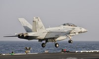 F/A-18F Super Hornet Launches from the USS George HW Bush Fine Art Print