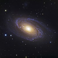 Bodes Galaxy, a Spiral Galaxy in Ursa Major Fine Art Print