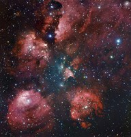 The Cat's Paw Nebula in Scorpius Fine Art Print
