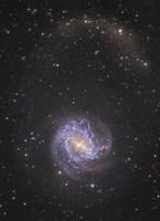 Messier 83 and its Northern Stellar Tidal Stream Fine Art Print