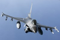 Dutch F-16AM Over the Mediterranean Sea (front view) Fine Art Print