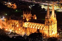 St Mary's Cathedral at Night,  Sydney, Australia by David Wall - various sizes, FulcrumGallery.com brand