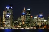 Sydney CBD at Night, Sydney Cove, Australia by David Wall - various sizes - $32.49