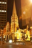 Albert Street Uniting Church at Night, Brisbane, Queensland, Australia by David Wall - various sizes