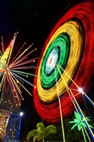 Amusement Park at Night, Surfers Paradise, Gold Coast, Queensland, Australia by David Wall - various sizes