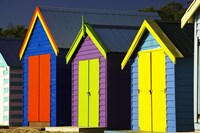 Bathing Boxes, Middle Brighton Beach, Port Phillip Bay, Melbourne, Victoria, Australia by David Wall - various sizes
