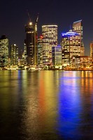Brisbane River and Brisbane at Night, Queensland, Australia by David Wall - various sizes