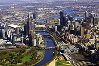 Melbourne CBD and Yarra River, Victoria, Australia Fine Art Print
