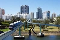 Monorail by Jupiter's Casino, Broadbeach, Gold Coast, Queensland, Australia by David Wall - various sizes
