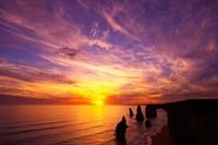 Sunset, Twelve Apostles, Port Campbell National Park, Great Ocean Road, Victoria, Australia Fine Art Print