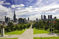 View from the Shrine of Remembrance, Melbourne, Victoria, Australia Fine Art Print