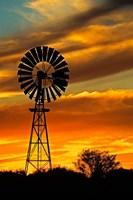 Windmill, Oodnadatta Track, Outback, Australia Fine Art Print