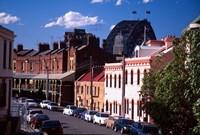 Historic Buildings and Sydney Harbor Bridge, The Rocks, Sydney, Australia by David Wall - various sizes