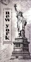 "New York by Sydney Wright - 9"" x 18"""
