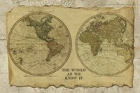 Antique Map I by Beth Albert - various sizes