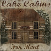 Lake Cabin by Beth Albert - various sizes