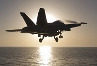 F/A-18F Super Hornet in the Morning Sun over the Arabian Sea Fine Art Print