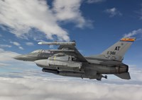 F-16 Fighting Falcon flies with AGM-65 Maverick by HIGH-G Productions - various sizes - $30.99