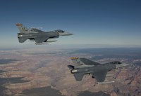 A Pair of F-16's near the Grand Canyon, Arizona by HIGH-G Productions - various sizes, FulcrumGallery.com brand