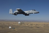 A-10C Thunderbolt Releases two High Drag BDU-50's over Idaho Fine Art Print