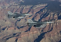 F-16's fly in formation near the Grand Canyon, Arizona by HIGH-G Productions - various sizes - $47.99