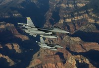 Two F-16's fly in Formation over the Grand Canyon, Arizona by HIGH-G Productions - various sizes