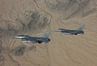 Two F-16's over the Arizona Desert by HIGH-G Productions - various sizes