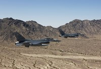 Two F-16's with the Arizona Mountains by HIGH-G Productions - various sizes