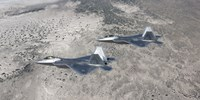 Two F-22 Raptors over New Mexico by HIGH-G Productions - various sizes