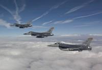 Three F-16's over the Clouds of Arizona Fine Art Print