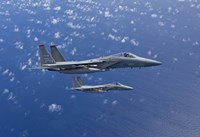 Two F-15 Eagles over the Pacific Ocean by HIGH-G Productions - various sizes