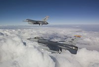 Two F-16's flying in the Clouds by HIGH-G Productions - various sizes