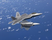 Two F-22 Raptors Maneuver over Japan by HIGH-G Productions - various sizes