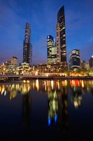 Australia, Victoria, City Skyline, Bridge, Yarra River by David Wall - various sizes