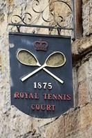 Sign for Royal Tennis Court (1875), Tasmania, Australia Fine Art Print