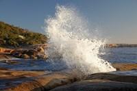 Splash from Blowhole, Bicheno, Tasmania, Australia by David Wall - various sizes