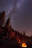 Milky Way over Mountain Tunnel in Yosemite National Park Fine Art Print