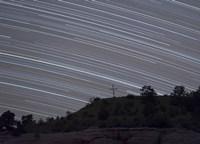 Star Trails over a cross in Oklahoma Fine Art Print
