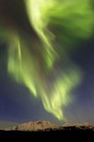 Aurora Borealis over Emerald Lake, Carcross, Yukon, Canada Fine Art Print
