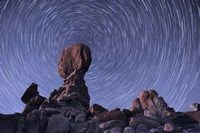 Star trails around the Northern Pole Star, Arches National Park, Utah Fine Art Print