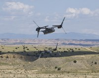 Two CV-22 Osprey's Low Level Flying over New Mexico by HIGH-G Productions - various sizes - $30.49