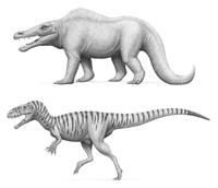Megalosaurus Bucklandii, Past and Present Fine Art Print