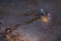 The Rho Ophiuchus Area in Sagittarius Fine Art Print